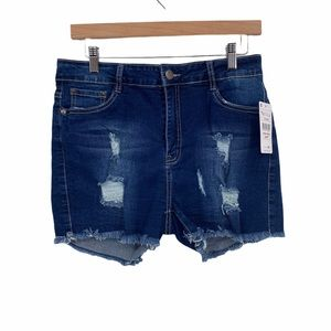 NWT Puzzle for Life distressed denim shorts